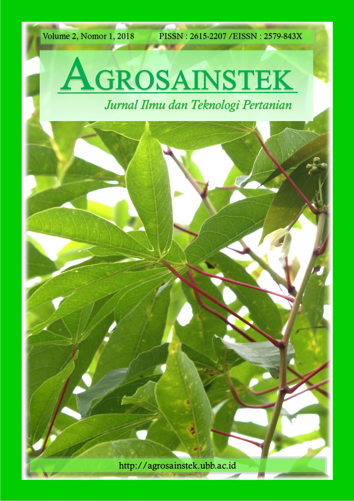 AGROSAINSTEK Volume 2 No 1 2018